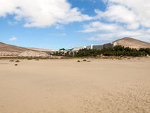 Beach Playa de Sotavento, Canary Island Fuerteventura,. Spain stock photography