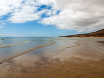 Beach Playa de Sotavento, Canary Island Fuerteventura. Spain royalty free stock image