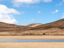 Beach Playa de Sotavento, Canary Island Fuerteventura. Spain royalty free stock photos