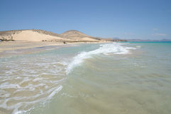 Beach Playa de Sotavento, Fuerteventura Stock Images