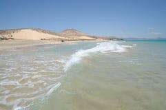Beach Playa de Sotavento, Fuerteventura. Beach Playa de Sotavento, Jandia, Canary Island Fuerteventura, Spain Stock Images