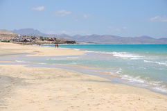 Beach Playa de Sotavento Fuerteventura, Spain. Beach Playa de Sotavento on Canary Island Fuerteventura, Spain stock photo