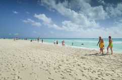 Beach of Playa del Carmen Stock Image