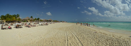 Beach of Playa del Carmen Royalty Free Stock Image