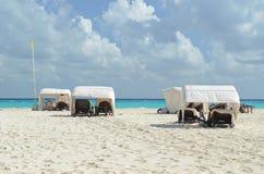 Beach of Playa del Carmen. Beautiful beach in Playa del Carmen, Mexico Stock Image