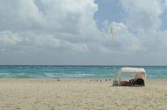 Beach of Playa del Carmen. Beautiful beach in Playa del Carmen, Mexico Royalty Free Stock Photos