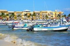 Beach in Playa del Carmen, Mexico Stock Photography
