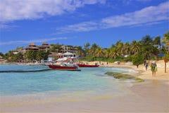 Beach in Playa del Carmen, Mexico. Tropical beach in Playacar and Playa del Carmen, Mexico Stock Photos