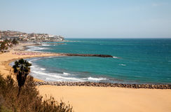 Beach of Playa del Inglés. Royalty Free Stock Images