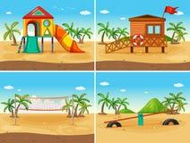Beach and playground Royalty Free Stock Photo