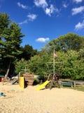 Beach Playground And Pirate Ship Stock Photography