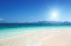 Beach on the Poda island Stock Image