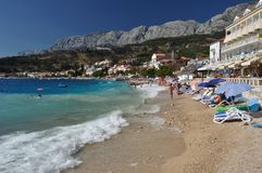 Amazing beach of Podgora, Croatia Royalty Free Stock Photo