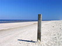 Beach pole 1. These poles are significant representatives of our Dutch inheritance Royalty Free Stock Image
