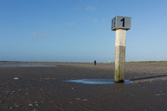 Beach pole IJmuiden Stock Photo