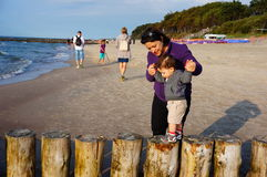 Beach poles Stock Photo
