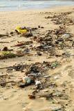 Beach pollution Stock Image