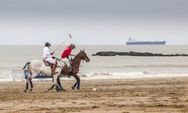 Beach polo. In Knokke on the Beach Belgium Royalty Free Stock Photo