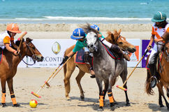 Beach polo Stock Photography