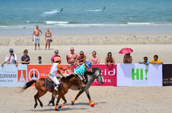 Beach polo Royalty Free Stock Image