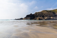 Polurrian Cove Cornwall Stock Image