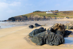 Polurrian Cove Cornwall Royalty Free Stock Photos