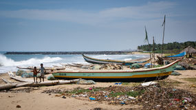 Beach in Pondicherry Stock Image