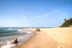 The beach of Ponta Do Ouro Stock Images