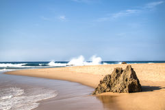 The beach of Ponta Do Ouro Royalty Free Stock Images