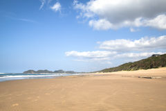 The beach of Ponta Do Ouro Stock Photos