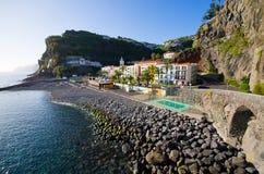 Beach in Ponta do Sol, Madeira, Portugal Stock Photos