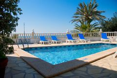 Beach Pool. At a Spanish Resort Stock Images