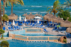Beach pool resort Stock Photos