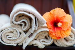 Beach pool towels Stock Images