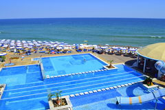 Beach pools Royalty Free Stock Photos
