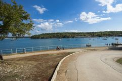 Beach in Porec royalty free stock photo