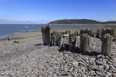 Beach at Porlock weir Royalty Free Stock Photos