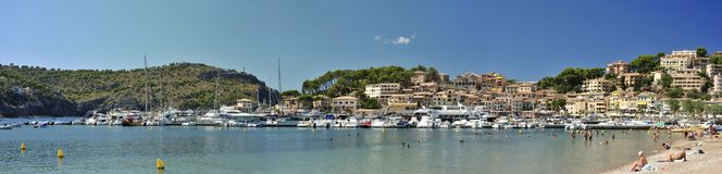 Beach in Port de Soller Royalty Free Stock Photos