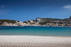 Beach of Port de Soller Mallorca Stock Photos