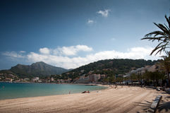 Beach of Port de Soller Mallorca Stock Images
