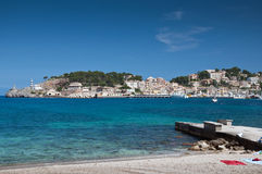 Beach of Port de Soller Mallorca Stock Photography