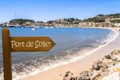 Beach of Port de Soller royalty free stock photos
