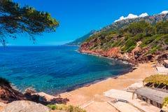 Beach of Port des Canonge Mallorca Spain. Beach of Port des Canonge, Mallorca, Balearic Islands, Spain Stock Image