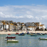 Beach and port of St.Ives in Cornwall Stock Photos