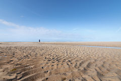 On the Beach of Portbail, Normandy, France at low tide Royalty Free Stock Photography