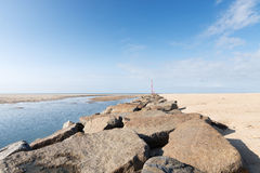 On the Beach of Portbail, Normandy, France at low tide Royalty Free Stock Image