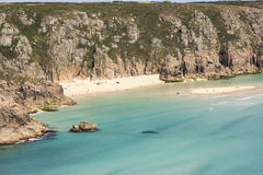 Beach at Porthcurno, Cornwall, England Royalty Free Stock Photography
