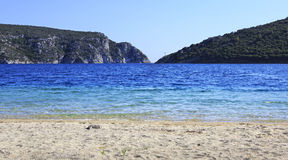 Beach at Porto Koufo (bay of Aegean Sea). Stock Image