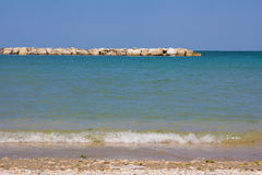 The beach of Porto San Giorgio. In the marche region Royalty Free Stock Photos