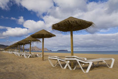 Beach at Porto Santo Stock Photo